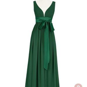 Azazie's Georgia dress size 10 in dark green